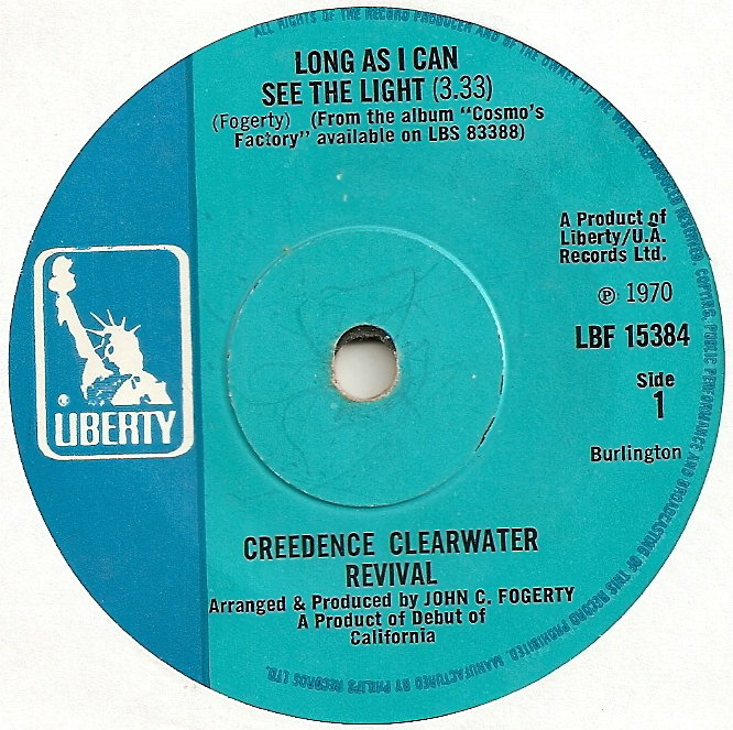Creedence Clearwater Revival Long As I Can See The