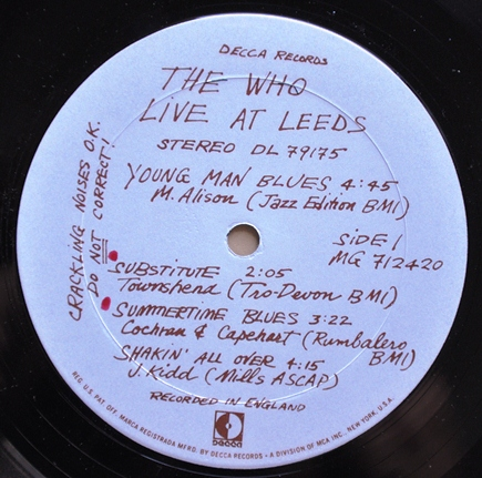 live at leeds vinyl
