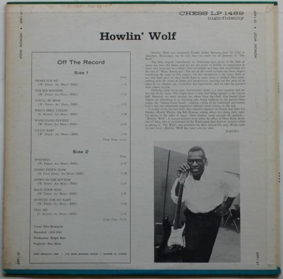 Howlin Wolf Rockin chair album back