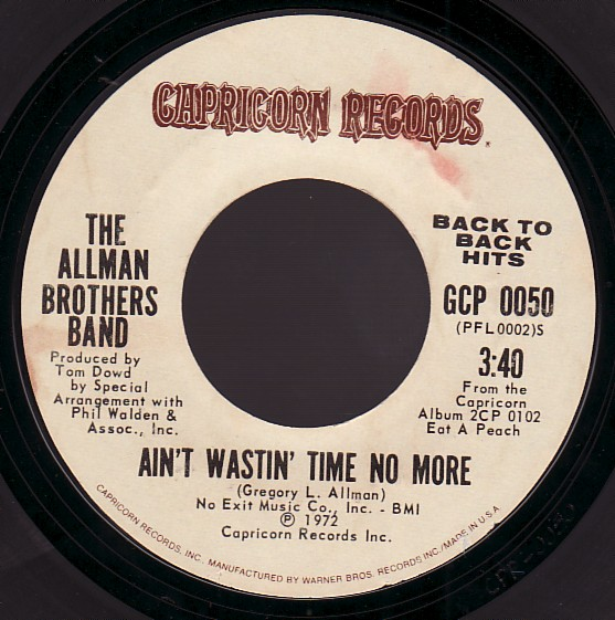allman brothers aint wastin time no more