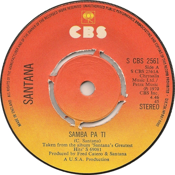 Santana Oye Como Va Samba Pa Ti 1971 The Hi Fi Phono Room