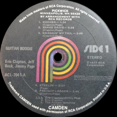 clapton Guitar Boogie vinyl